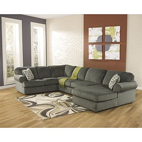Pemberly Row Place U-Shaped Sectional in Pewter