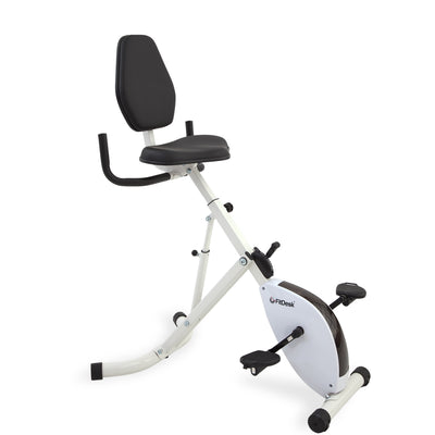 FitDesk Standing Desk Bike with handles up