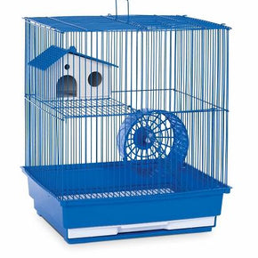 Two Story Hamster & Gerbil Cage - Yellow