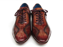 Load image into Gallery viewer, Paul Parkman Men's Handmade Lace-Up Casual Shoes For Men Brown Hand-Painted Leather Upper and Leather Sole