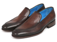 Load image into Gallery viewer, Paul Parkman Perforated Leather Loafers Brown (ID#874-BRW)