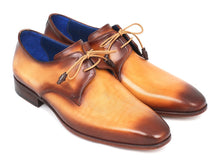 Load image into Gallery viewer, Paul Parkman Men's Brown & Camel Hand-Painted Derby Shoes (ID#326-CML)