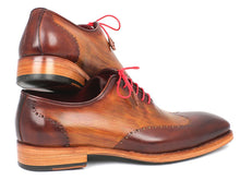 Load image into Gallery viewer, Paul Parkman Men's Wingtip Oxford Goodyear Welted Brown & Camel (ID#81BRW74)