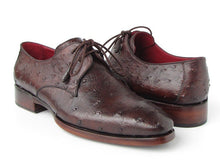 Load image into Gallery viewer, Paul Parkman Men's Brown Genuine Ostrich Derby Shoes (ID#33B76)
