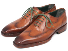 Load image into Gallery viewer, Paul Parkman Men's Wingtip Oxford Goodyear Welted Camel Brown (ID#87CML66)