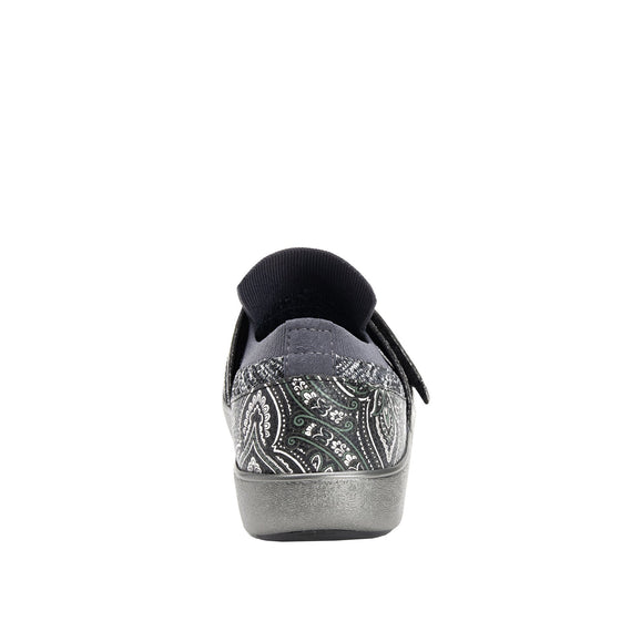 Qwik Outta Sight Black slip on smart shoes with q-chip technology. QWI-5003_S3
