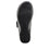 Qwik Outta Sight Black slip on smart shoes with q-chip technology. QWI-5003_S5