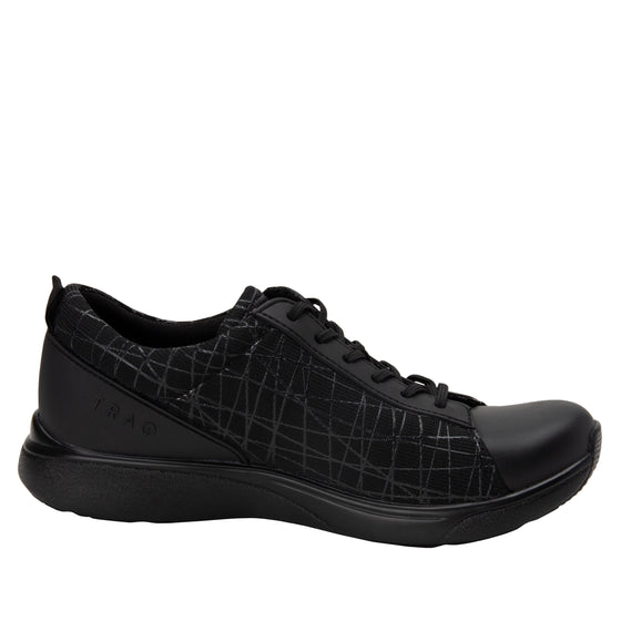 Qest Intersection Black lace up smart shoes with q-chip technology. QES-5011_S2