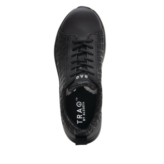 Qest Intersection Black lace up smart shoes with q-chip technology. QES-5011_S4