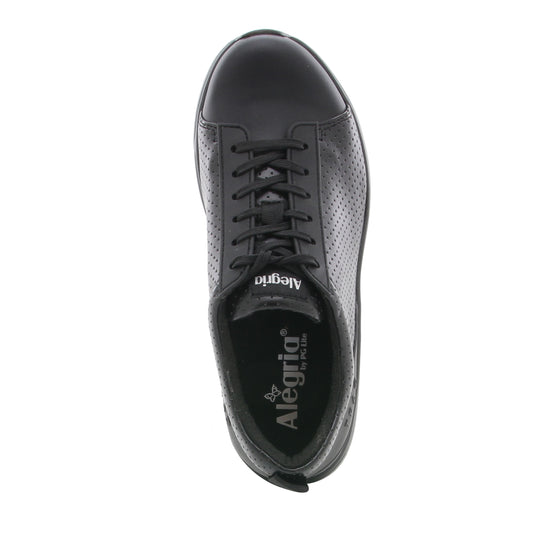 Qest Perf Black lace up smart shoes with q-chip technology. QES-5019_S4