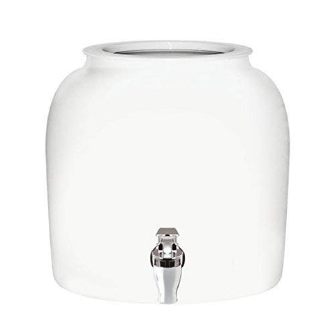 Brio Solid Porcelain Ceramic Water Dispenser Crock with Faucet - Multiple Colors