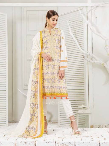 Orient 3PC Lawn Embroidered Zairi Kinari Collection 2019 Vol 2 OTL 117A
