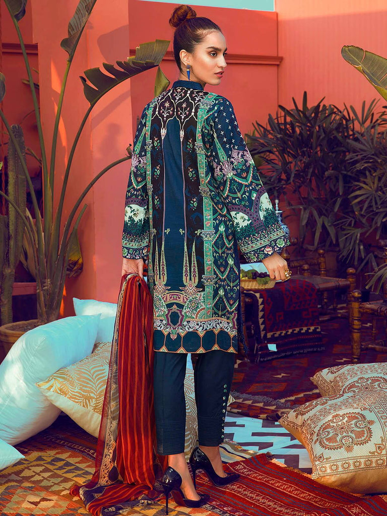 RajBari Luxury Embroidered Lawn 2019 Unstitched 3 Piece Suit 6B