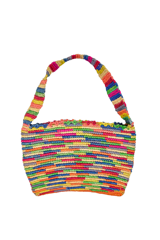 Frida Multi Color Straw Bag