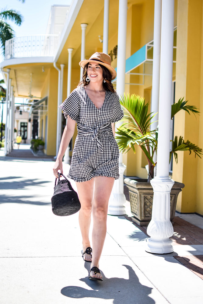 Lovely As Can Be Gingham Romper