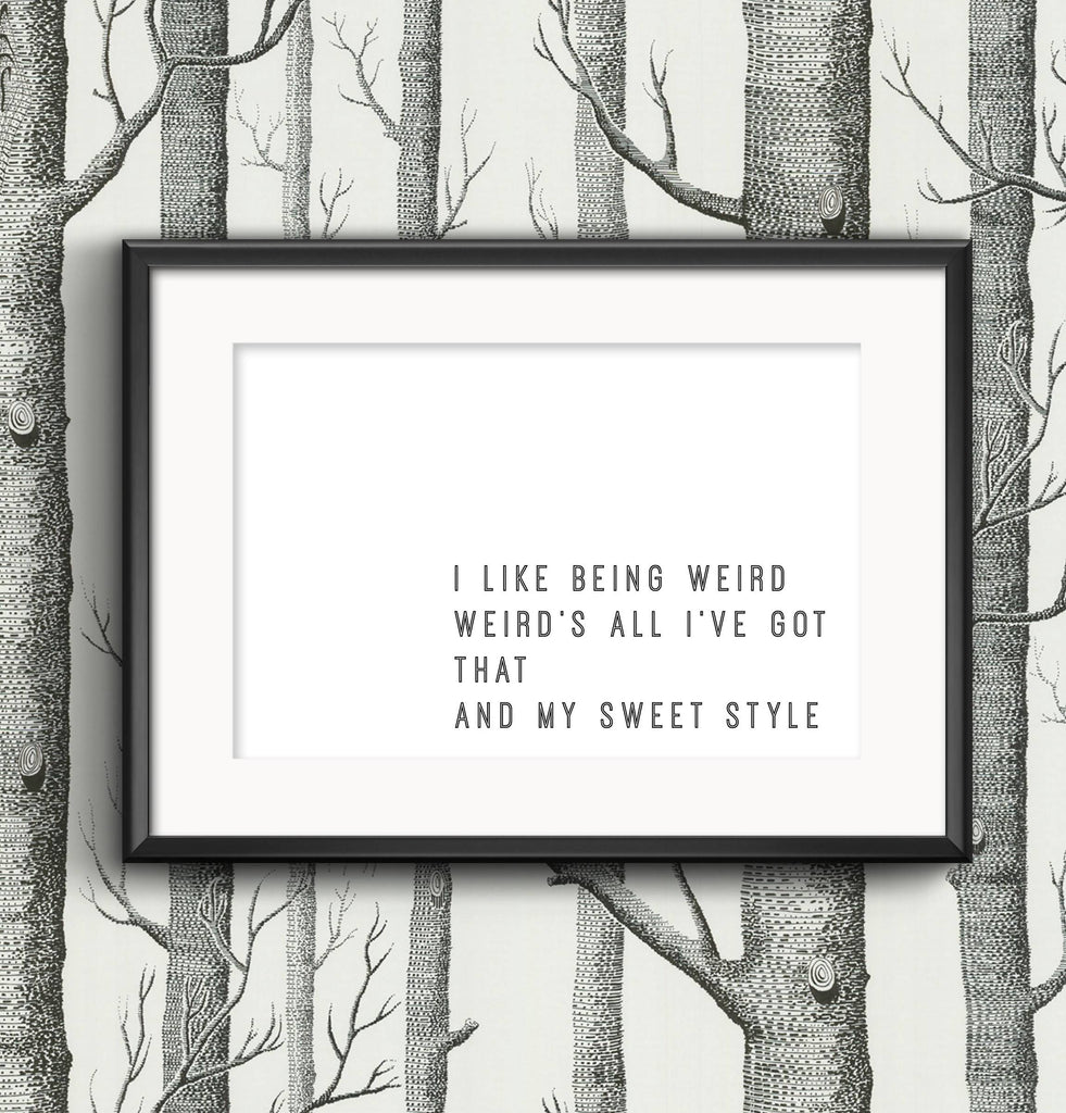 I Like Being Weird Moss IT Crowd Print