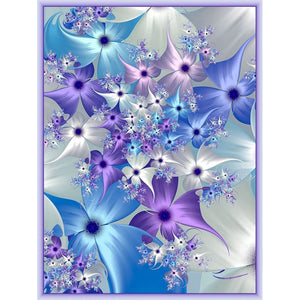 Full Square or Round Drill Diamond Painting - Cosmic Flowers On Sale -Diamond Paintings, Diamond Paintings Store