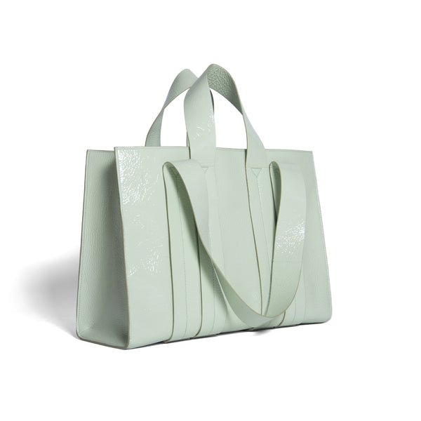 COSTANZA BAG L WRINKLY MINT PATENT