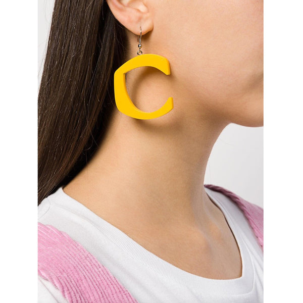 C STAR YELLOW EARRINGS