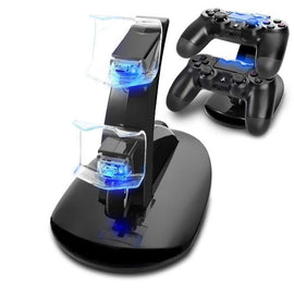 Controller Charger Dock LED Dual USB PS4 Charging Stand Station Cradle for Sony Playstation 4 PS4
