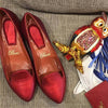 Handmade Red Loafers - Bohology