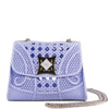Mini Baby Blue Woven Rubber Bag