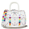 Multicolor Studs White Rubber Bag