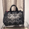 3D Black Lace Large Rubber Bag