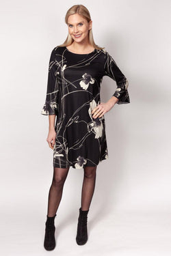 Etched Floral Dress