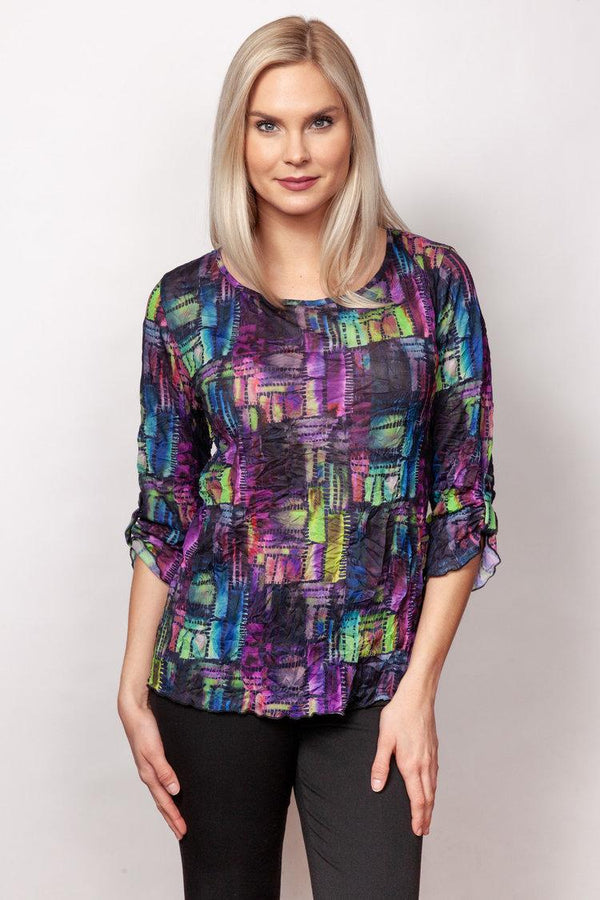 Jewel Tones Crinkle Top