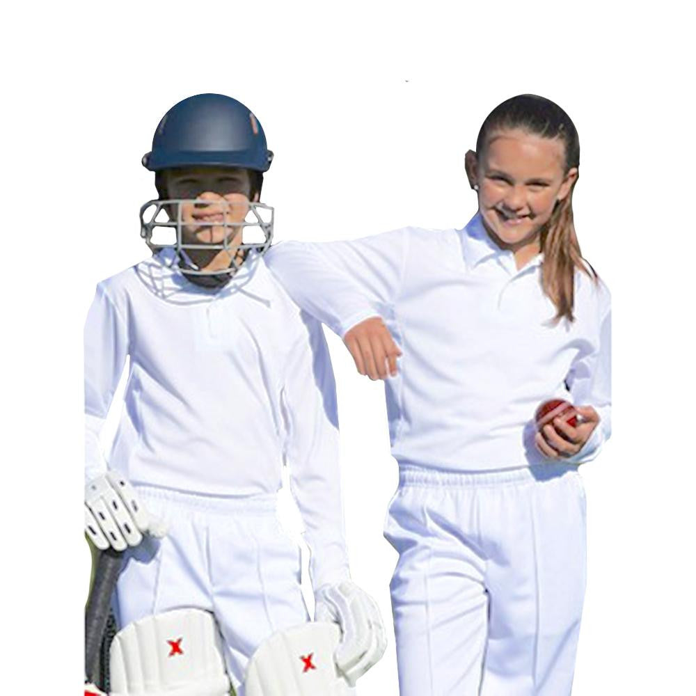 Kids Cricket Polo Shirt L/S