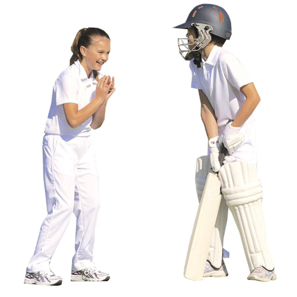 Kids Cricket White Polo Shirt
