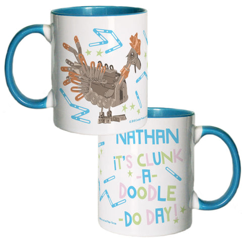 Clunk A Doodle Clangers Personalised Coloured Insert Mug