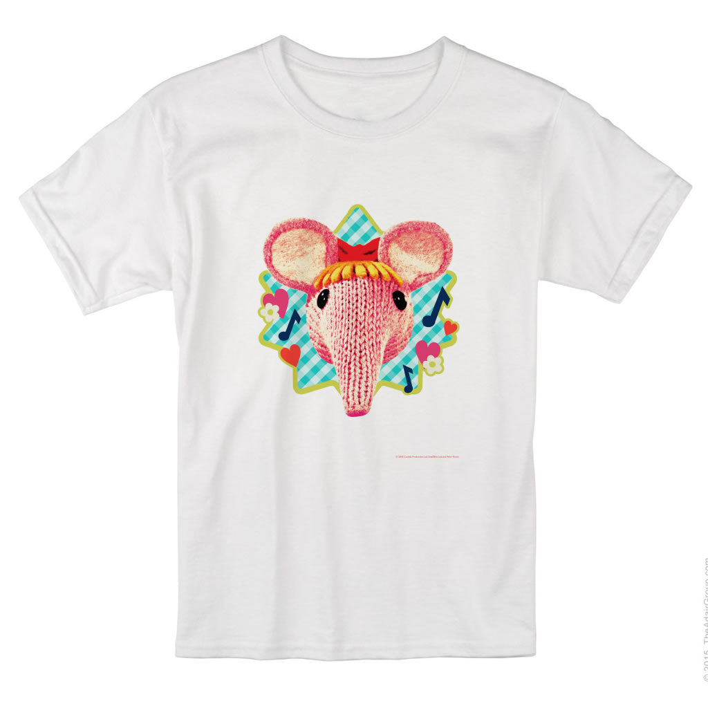 Blue Hearts and Flowers Clangers T-Shirt