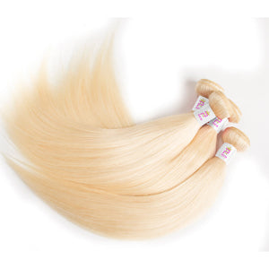 Precise Hair Russian Blonde Brazilian Straight Human Hair - Precisehairextensions.com
