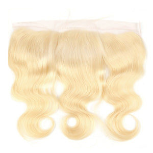 Blonde 613 Brazilian Body Wave Lace Frontal - Precisehairextensions.com