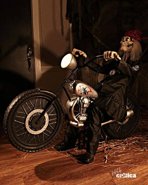 "Animatronic ""Motorbike Reaper"" - SCREAMSTORE"