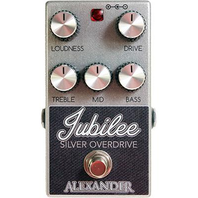 ALEXANDER PEDALS Jubilee Silver Overdrive Pedals and FX Alexander Pedals