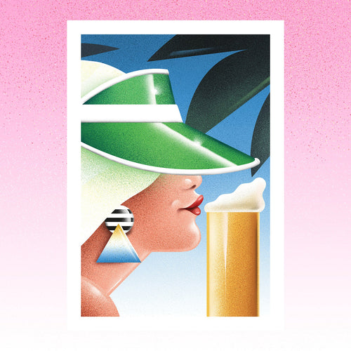 Woman with beer--Limited edition of 25