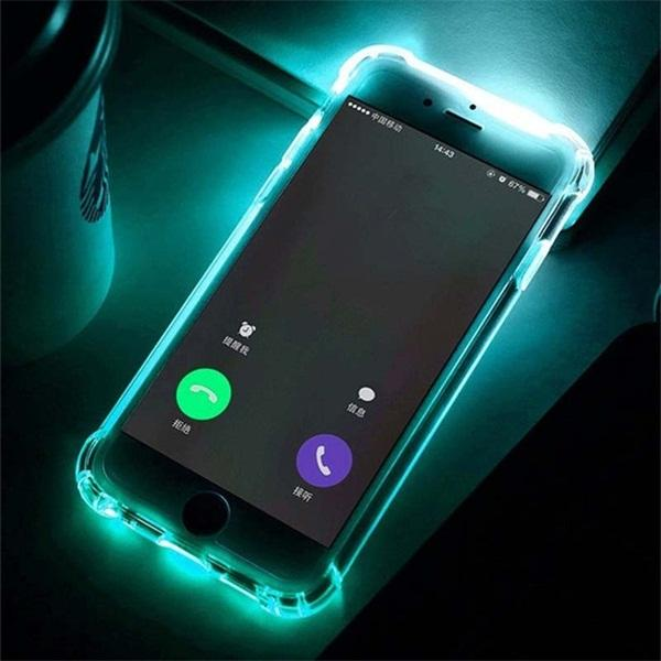 Anti-Knock Soft TPU LED Flash Light Up Remind Call Cases For iPhone X XS XR XS Max