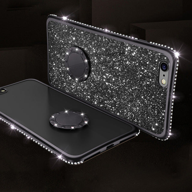 Bling Glitter Case For iPhone X/XS/XR/XS MAX(Send Finger Ring)