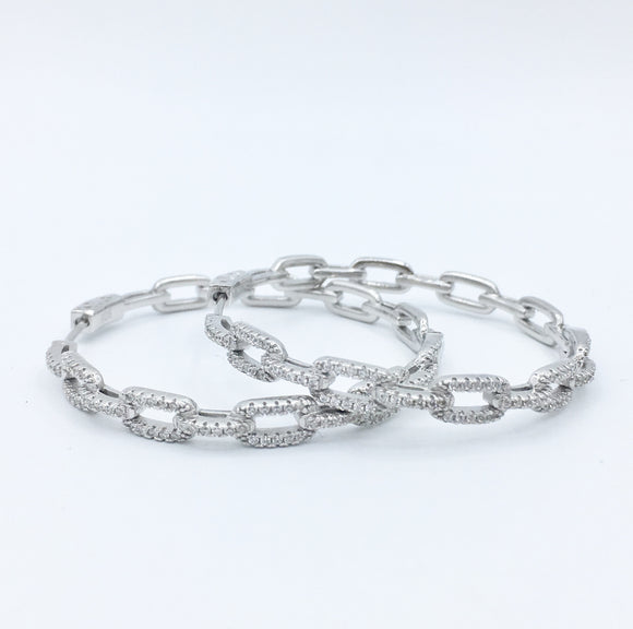 Diamond Cable Hoops