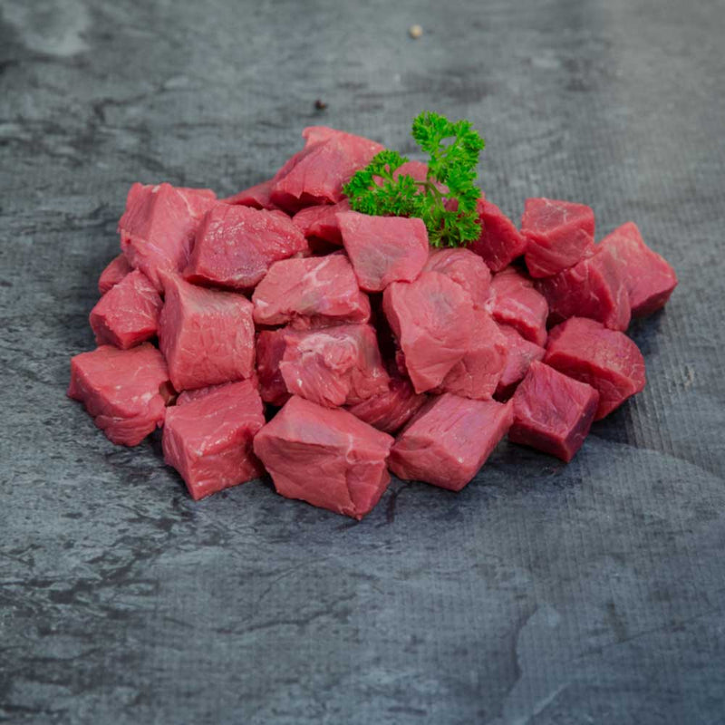 Diced Beef Organic - approx. select portion size