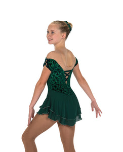 J213/18 Emerald Green Gemology Dress