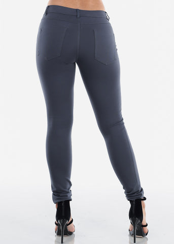 Stretchy Charcoal Skinny Pants