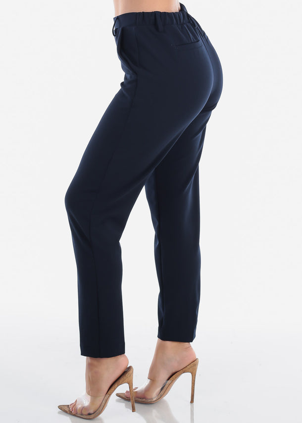 Pull On Navy Dressy Pants