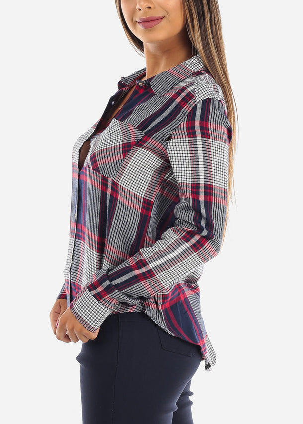 Multicolor Plaid Button Up Shirt