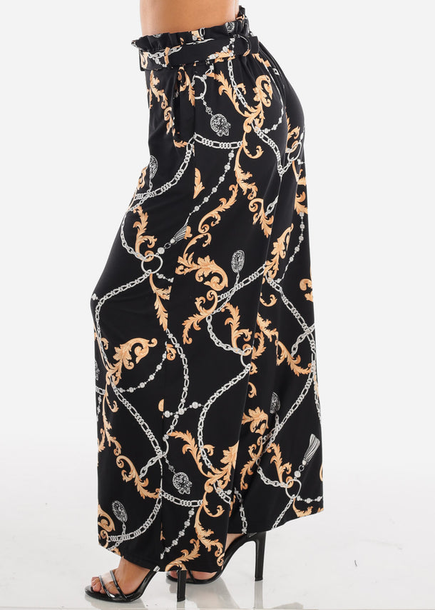 Stylish Black Printed Palazzo Pants