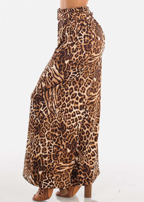 Stylish Animal Print Palazzo Pants