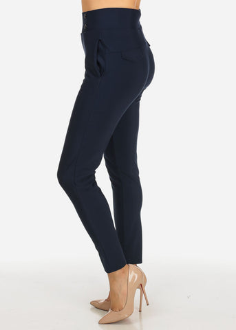 Image of Navy 2-Pocket Pull On Pants